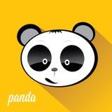 Panda bear vector illustration. flat style Stock Photography
