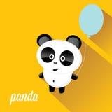 Panda bear vector illustration. flat style Royalty Free Stock Image