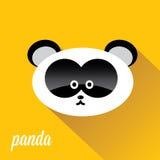 Panda bear vector illustration. flat style Royalty Free Stock Photo