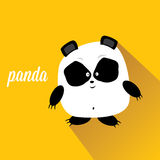 Panda bear vector illustration. flat style Stock Images