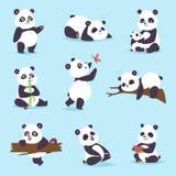 Panda bear vector set. Stock Images