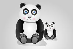 Panda Bears Illustration Royalty Free Stock Images