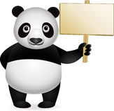 Panda and blank sign. Illustration of panda and blank sign Royalty Free Stock Photography