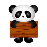 Panda with board Stock Photo