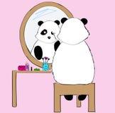 Panda bonito da tração da mão Imagem de Stock
