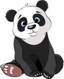 Panda bonito de assento ilustração do vetor