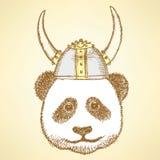 Panda bonito do esboço ilustração stock
