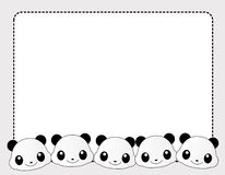 Panda border Stock Photography