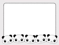 Panda border Stock Photography