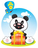 Panda with butterfly Royalty Free Stock Image
