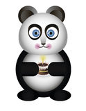 Panda with cake Stock Photo