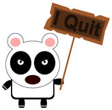 Panda can quit Royalty Free Stock Photos