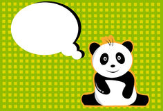 Panda and card Stock Images