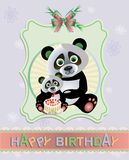 Panda Card Royalty Free Stock Images