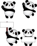 Panda cartoon Royalty Free Stock Photography