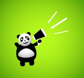 Panda cartoon character Stock Photography