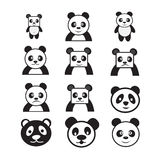 Panda cartoon character icon dessign Royalty Free Stock Photos