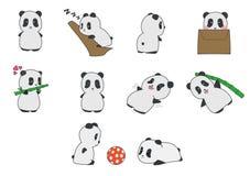 Panda Cartoon Clipart sveglio Immagini Stock