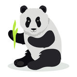 Panda Cartoon Flat Vector Illustration Photo stock