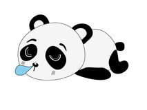 Panda cartoon Stock Images
