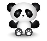 Panda Cartoon Lift His Hand mignon Photo libre de droits