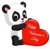 Panda cartoon with love Royalty Free Stock Image