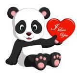 Panda cartoon with love Royalty Free Stock Photo