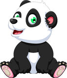 Panda Cartoon Sitting mignon Photos stock