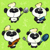 Panda chef. And kitchen accessories Vector Illustration