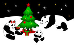 Panda Christmas Stock Photos