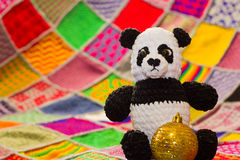 Panda with Christmas decorations Royalty Free Stock Photo