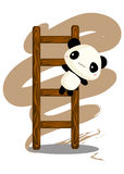 Panda Climbing Ladder Royalty Free Stock Photo