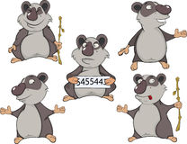 Panda clip art cartoon Royalty Free Stock Photos