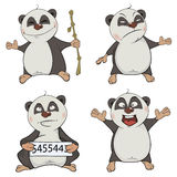 Panda clip art cartoon set Royalty Free Stock Image