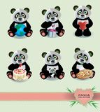 Panda Collection Images libres de droits