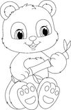 Panda coloring page Stock Photo