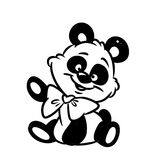 Panda coloring pages Stock Photo