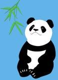 Panda com bambu ilustração royalty free