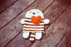 Panda com coração Fotos de Stock