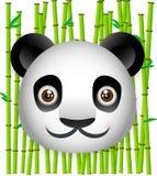 Panda com fundo de bambu Imagem de Stock Royalty Free