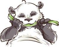Panda con bambù Fotografie Stock