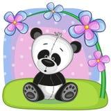Panda con i fiori royalty illustrazione gratis