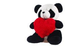 Panda con un cuore Fotografia Stock Libera da Diritti