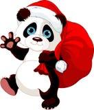 Panda con un saco lleno de regalos ilustración del vector