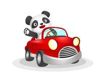 Panda conduisant la voiture illustration stock