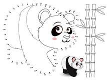 Panda Connect de punten en de kleur set4 Stock Foto's