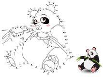 Panda Connect de punten en de kleur set3 Stock Afbeelding