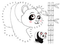 Panda Connect les points et la couleur set4 Photos stock