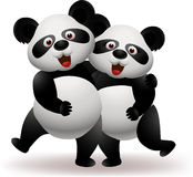 Panda couple Stock Photos