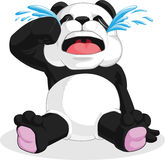 Panda Crying. A  image of a cute cartoon of panda crying. Drawn in cartoon style, this  is very good for design that needs animal element in cute, funny Stock Images